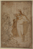 Saint Zenobius raising a dead child (recto)