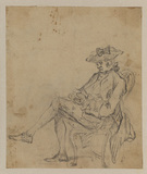 Man asleep seated in a chair