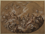 Design for ceiling decoration - Gathering of the Gods