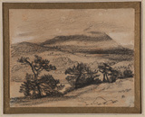 Landscape with trees and mountains in the background