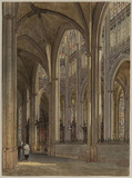 Interior of the church of Saint Ouen, Rouen