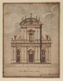 Design for the facade of the cathedral in Nettuno