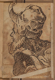 Head of a bearded man (verso)