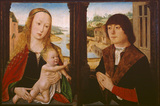 Diptych - Virgin and Child (left) and donor (right)