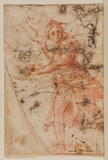 Draped female figure, running