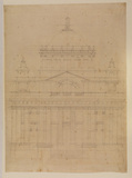 Design for Greenwich - end elevation of a proposed long chapel