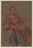 Study for a seated Provost of Merchants of Paris
