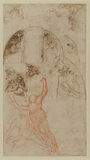 Studies for the decoration of a lunette (verso)