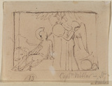Design for a wall monument in relief sculpture