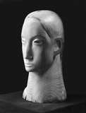 Head in Acacia Wood (BH 37 B), 1932, by Barbara Hepworth, photograph by Paul Laib