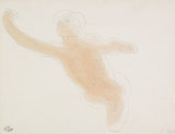 Male nude with outstretched arms