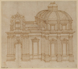 Incomplete perspective design for part of a chateau