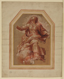 Study of the Virgin in 'The Assumption'