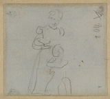 Study of a woman and child (verso)