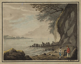 Landscape with figures - Landguard Fort, Essex