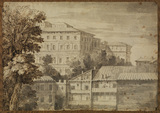 View of the Palazzo Barberini (recto)