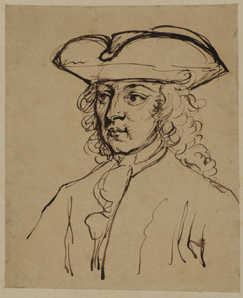 Head of a young man in a three-cornered hat