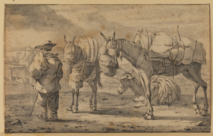Muleteer with pack animals