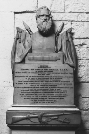 St Paul's Cathedral;The Crypt;Monument to Colonel Sir Duncan MacDougal