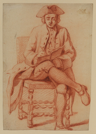 Young man in a three-cornered hat, writing
