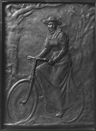 Agatha Thornycroft on her Bicycle