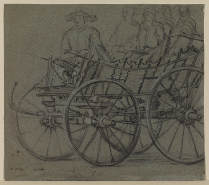 Wagon with passengers (recto)