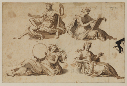 Four allegorical figures (Virtues)