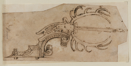 Design for an ornamental candle-bracket