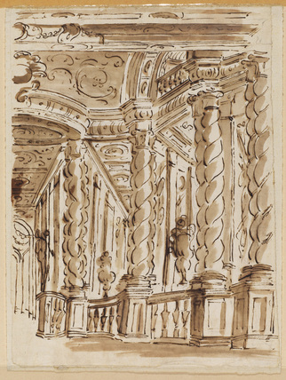 Architectural capriccio - interior of a palace