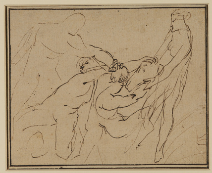 Meleager killing his uncles Plexippus and Toxeus