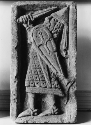 Fragment from the Abbey, relief, warrior