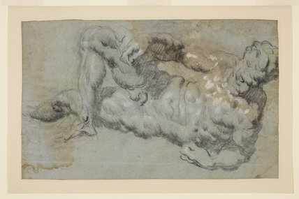 Study after Michelangelo's 'Evening' (recto)