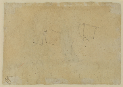 Sketches of sails (verso)