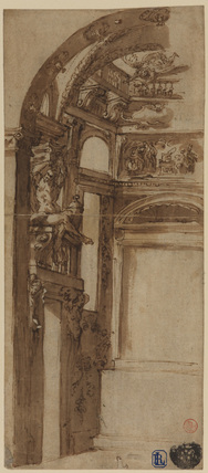 Design for the decoration of a chapel