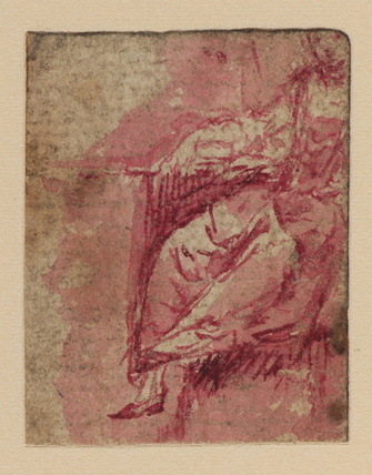Study of a seated female figure