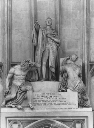 Westminster Abbey;Abbey Church;Monument to William Pitt