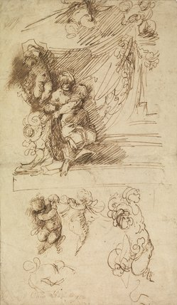 Studies for a Venus and cupids (?) (recto)