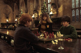 Harry & Ron playing chess at Christmas