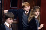 Harry, Ron & Hermione boarding Hogwarts Express