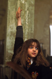 Hermione puts hand up