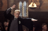 Draco Malfoy casting a spell