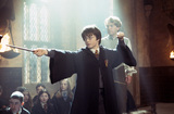 Harry casting spell with Lockhart