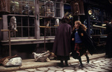 Hermione running in Diagon Alley