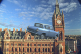 Ford Anglia flying over London