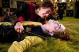 Harry lying over Cedric's dead body