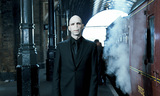 Voldemort next to Hogwarts Express