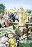 Jesus preaches from Simon's boat