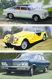Rover, Morgan Plus 8, Vauxhall Cresta