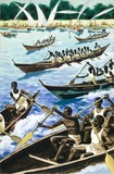 Canoe regatta, Lake Victoria