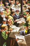 Reading newspapers